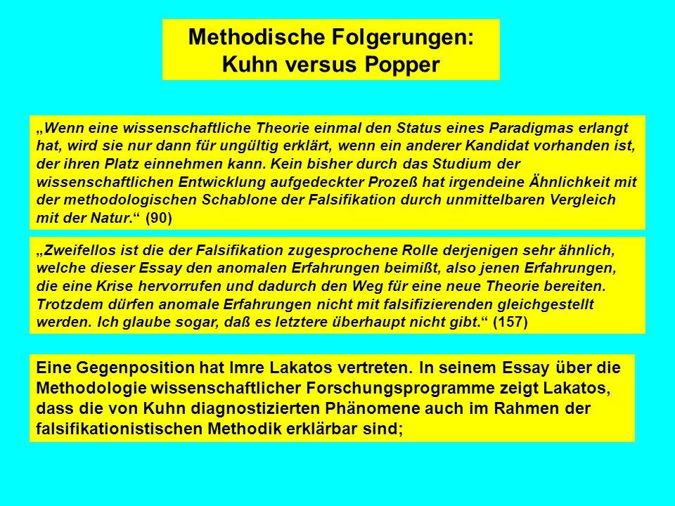 Methodische Folgerungen:
