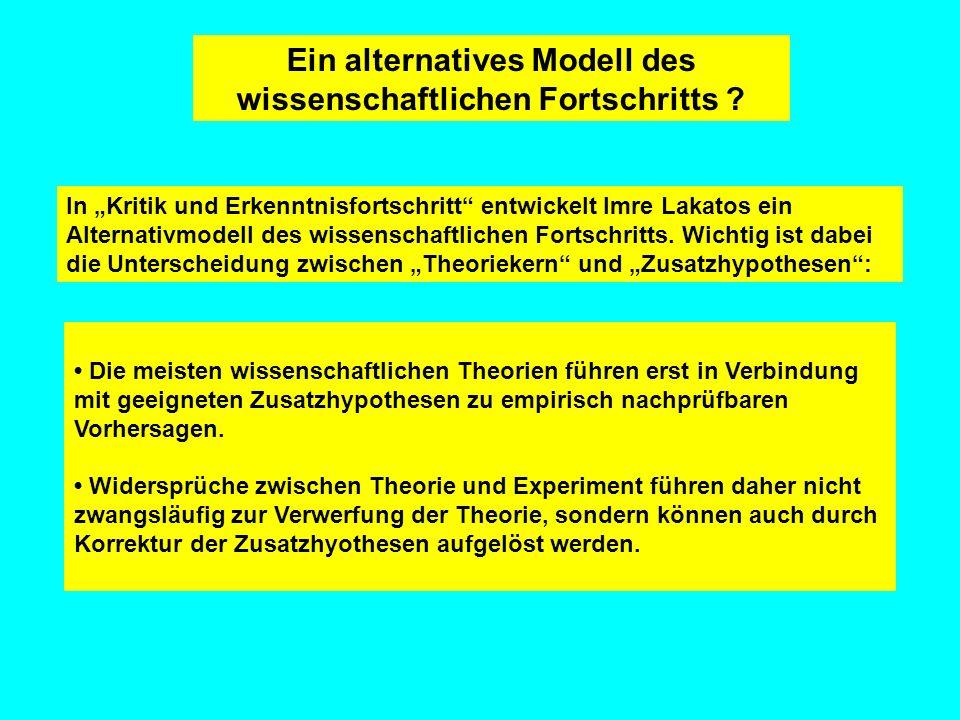 Ein alternatives Modell des wissenschaftlichen Fortschritts
