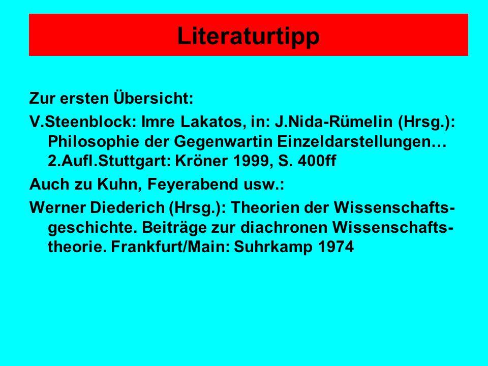 Literaturtipp Zur ersten Übersicht: