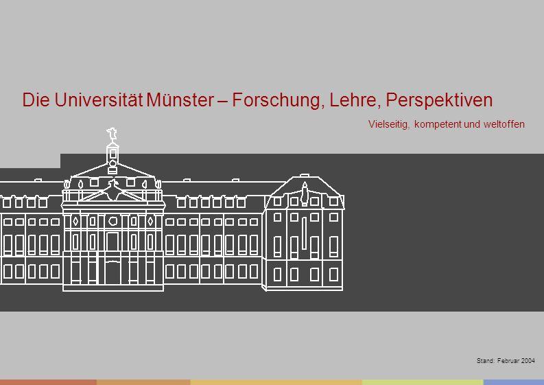 Die Universität Münster – Forschung, Lehre, Perspektiven