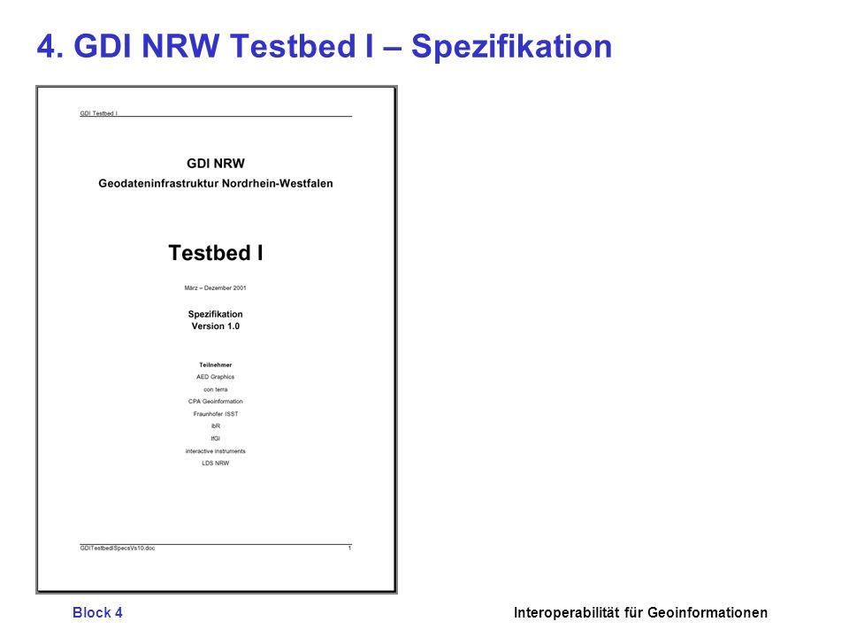 4. GDI NRW Testbed I – Spezifikation