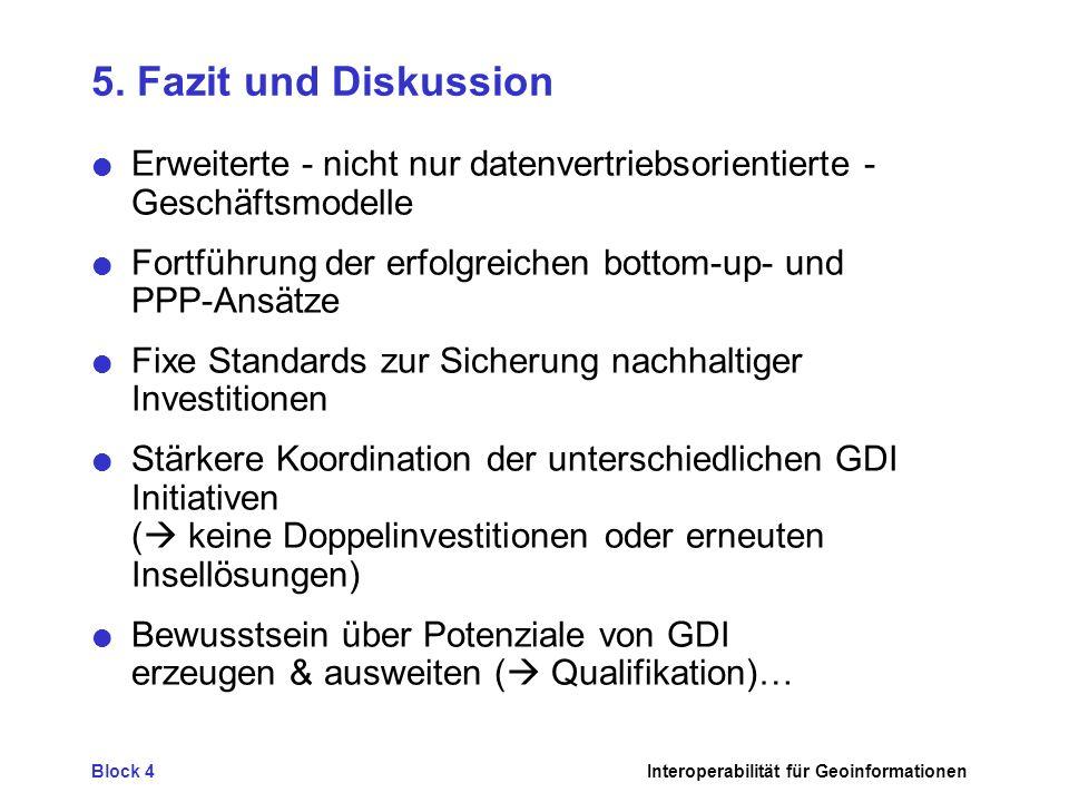 5. Fazit und Diskussion Erweiterte - nicht nur datenvertriebsorientierte - Geschäftsmodelle.