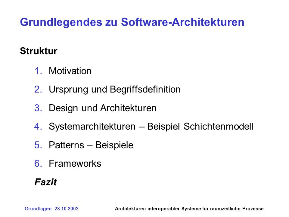 Grundlegendes zu Software-Architekturen
