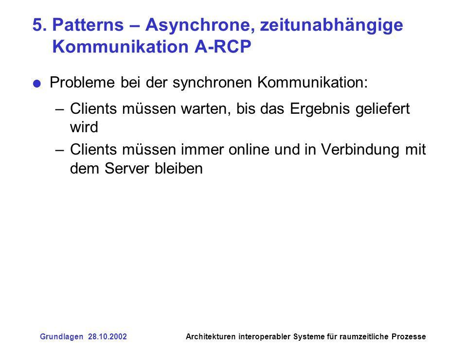 5. Patterns – Asynchrone, zeitunabhängige Kommunikation A-RCP