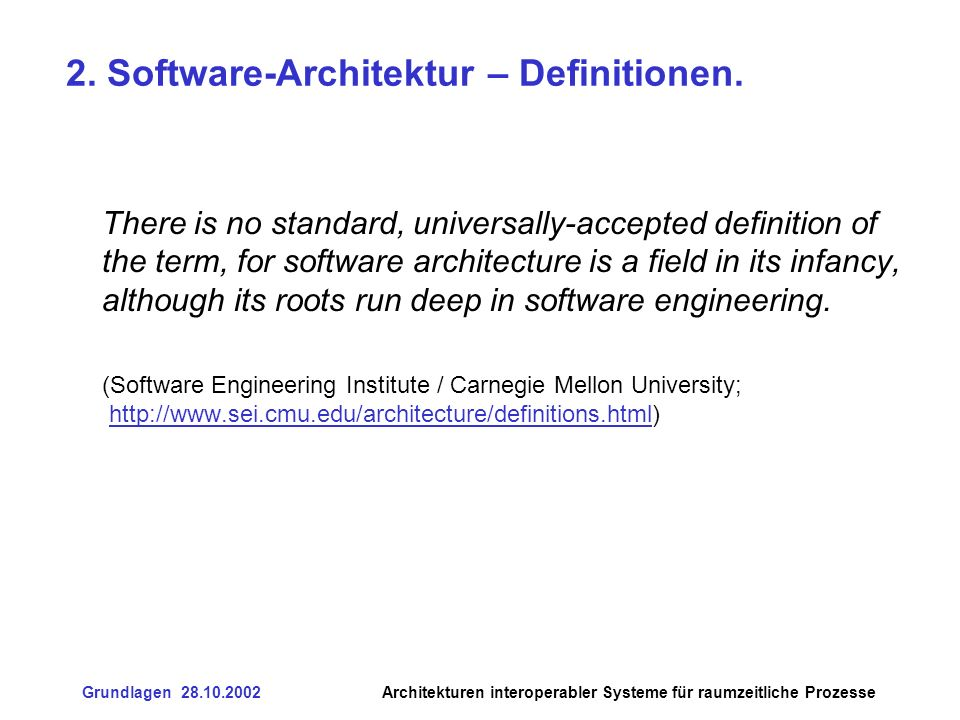 2. Software-Architektur – Definitionen.
