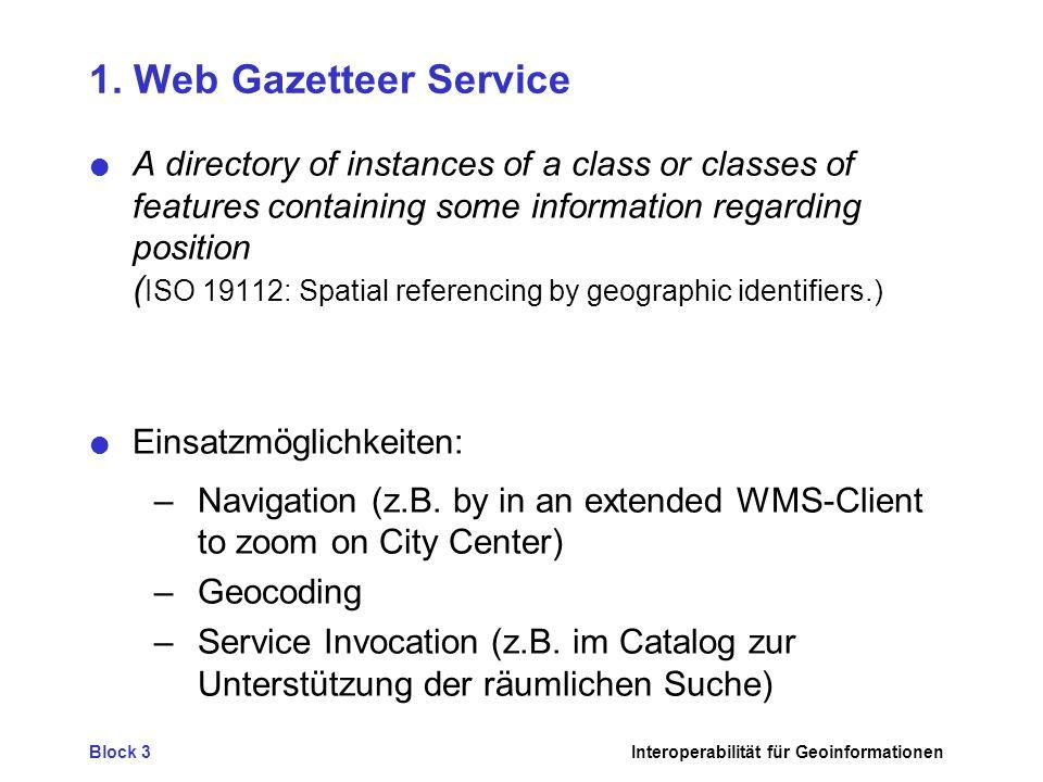 1. Web Gazetteer Service