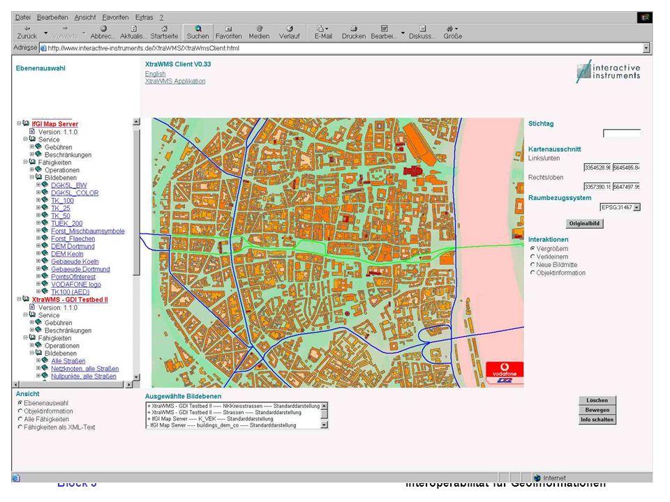 Block 3 Interoperabilität für Geoinformationen