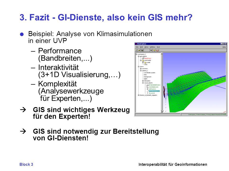 3. Fazit - GI-Dienste, also kein GIS mehr