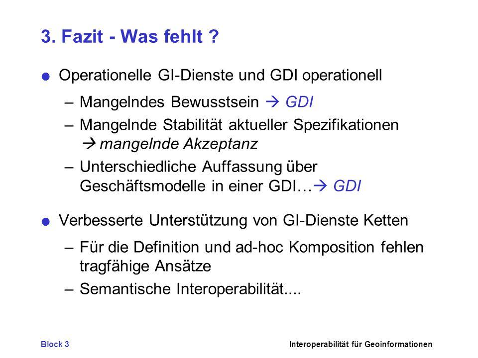 3. Fazit - Was fehlt Operationelle GI-Dienste und GDI operationell