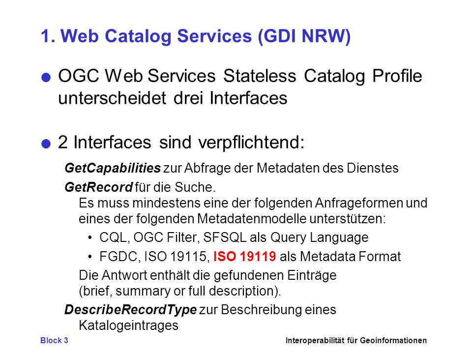 1. Web Catalog Services (GDI NRW)