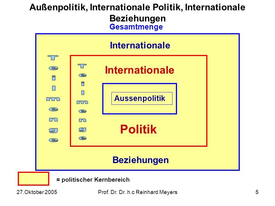 Außenpolitik, Internationale Politik, Internationale Beziehungen