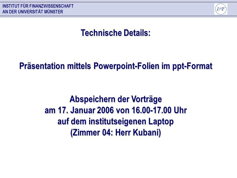Präsentation mittels Powerpoint-Folien im ppt-Format