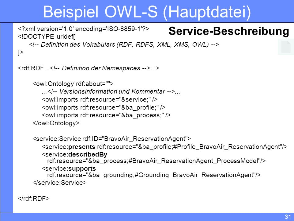 Beispiel OWL-S (Hauptdatei)