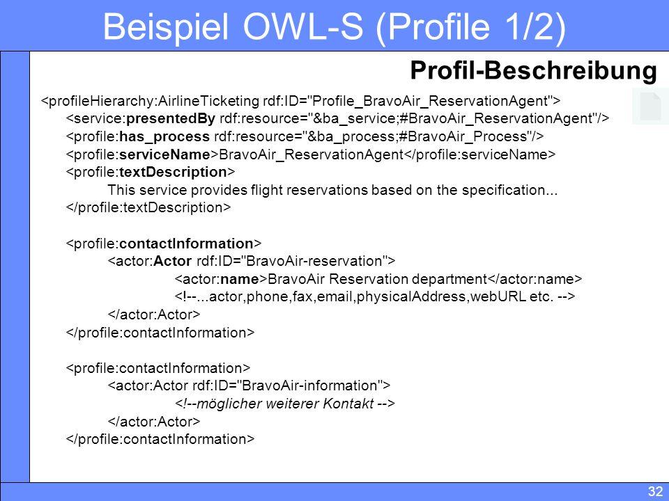 Beispiel OWL-S (Profile 1/2)