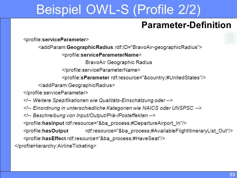 Beispiel OWL-S (Profile 2/2)