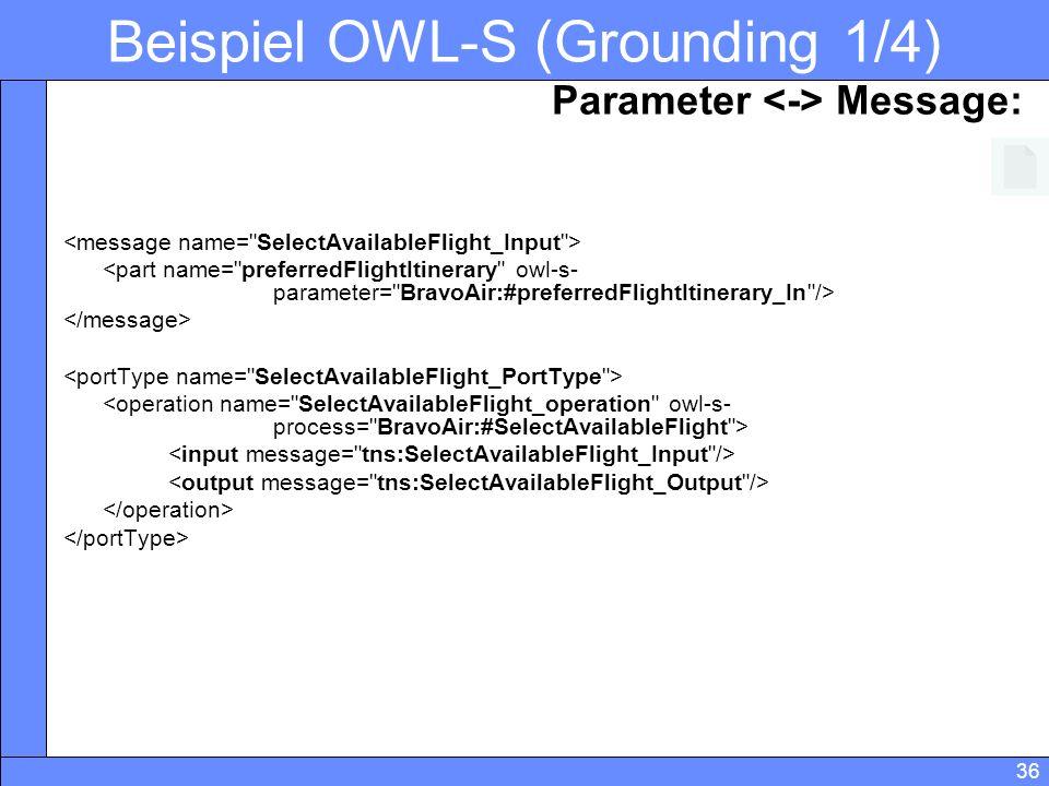 Beispiel OWL-S (Grounding 1/4)