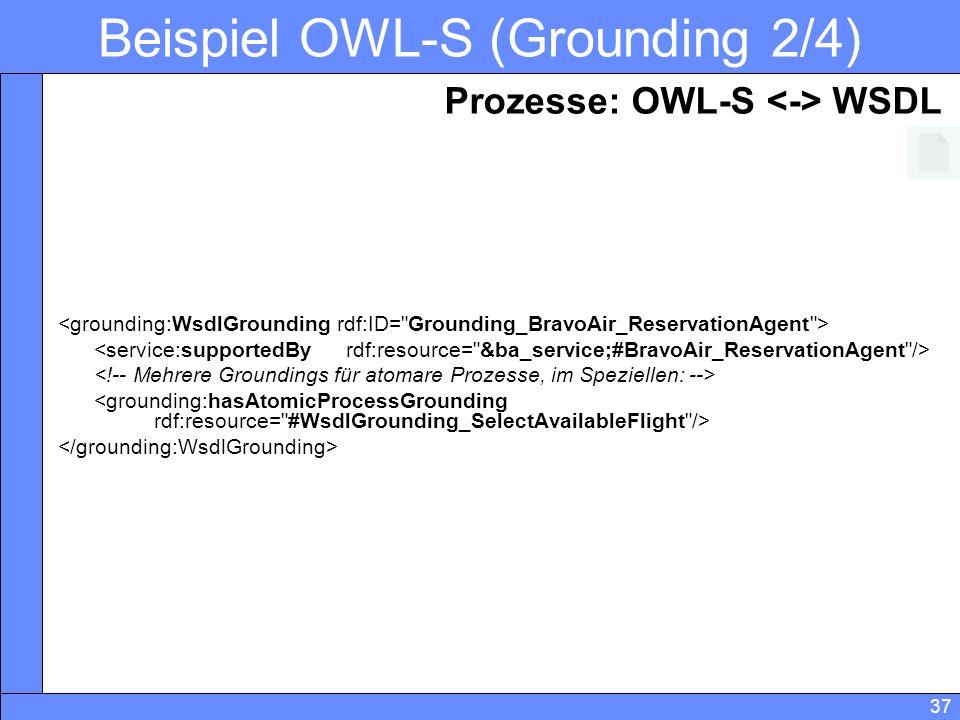 Beispiel OWL-S (Grounding 2/4)