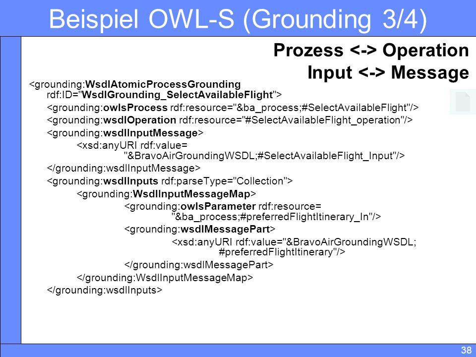 Beispiel OWL-S (Grounding 3/4)