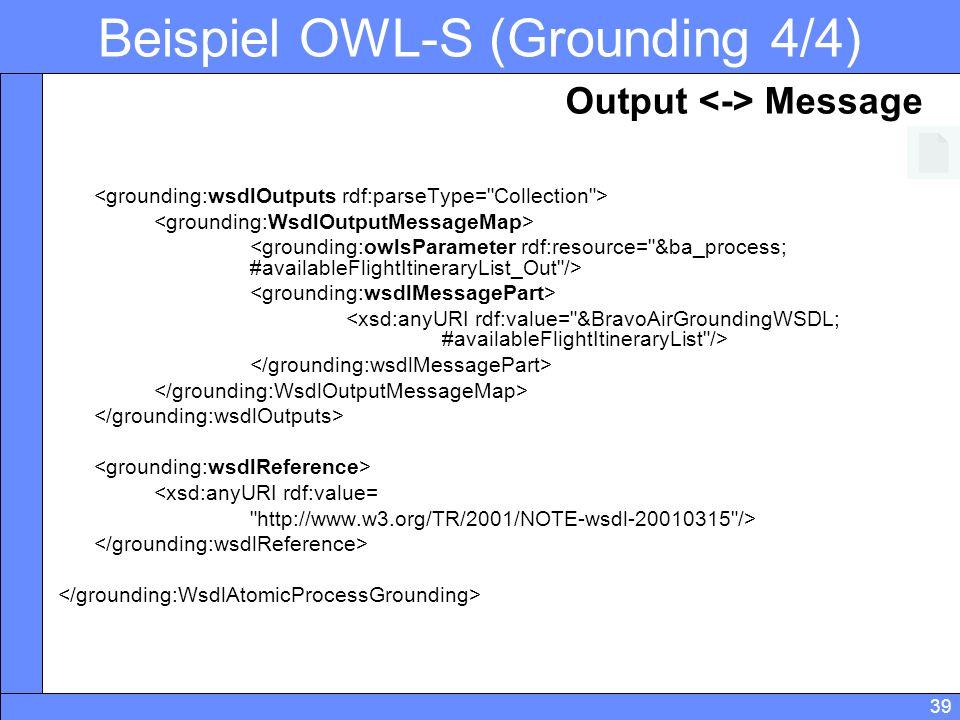 Beispiel OWL-S (Grounding 4/4)