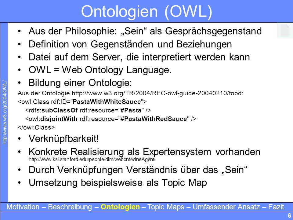 """Ontologien (OWL) Aus der Philosophie: """"Sein als Gesprächsgegenstand"""