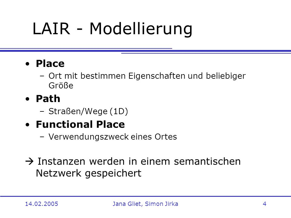 LAIR - Modellierung Place Path Functional Place
