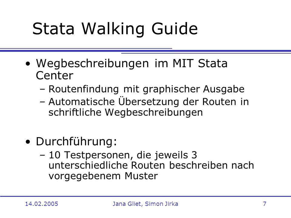 Stata Walking Guide Wegbeschreibungen im MIT Stata Center