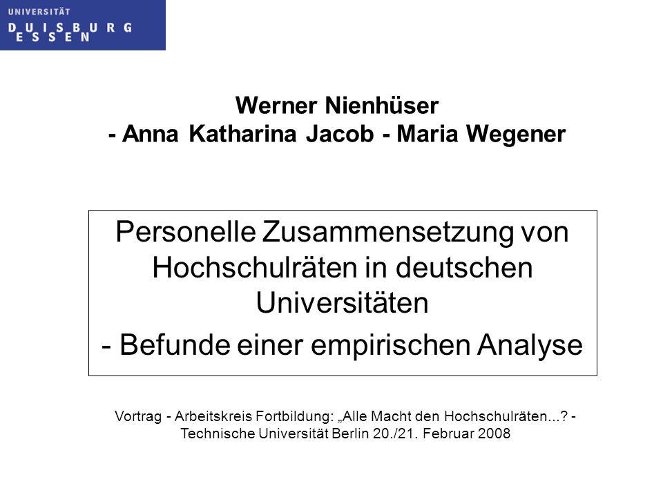 Werner Nienhüser - Anna Katharina Jacob - Maria Wegener