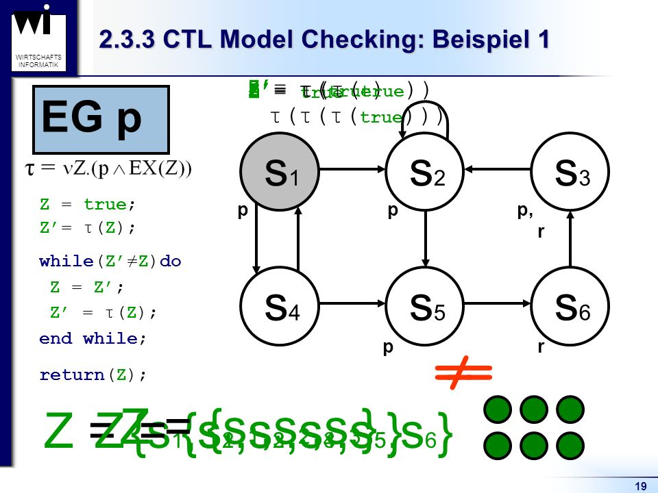 2.3.3 CTL Model Checking: Beispiel 1