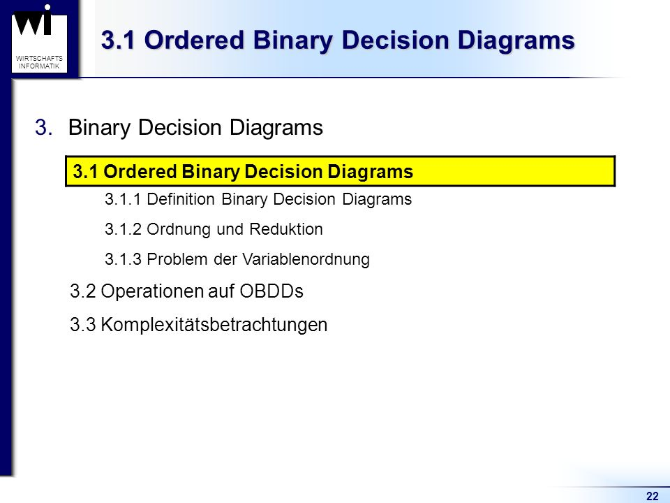 3.1 Ordered Binary Decision Diagrams