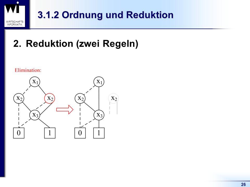 Reduktion (zwei Regeln)
