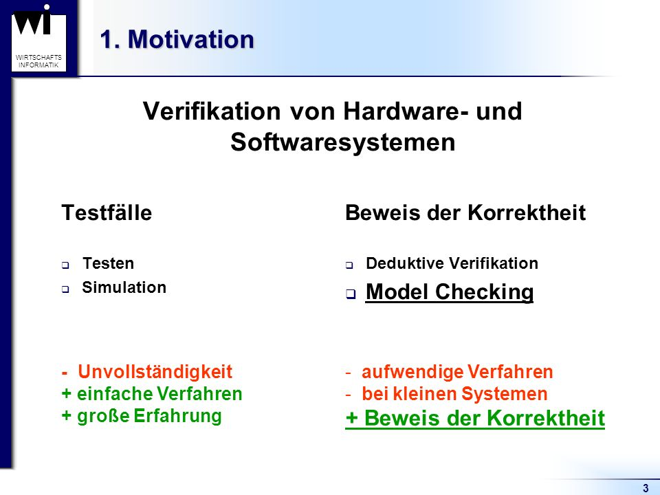 Verifikation von Hardware- und Softwaresystemen