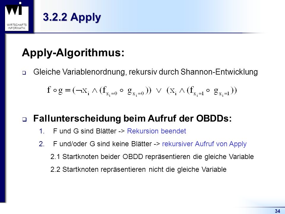 3.2.2 Apply Apply-Algorithmus: