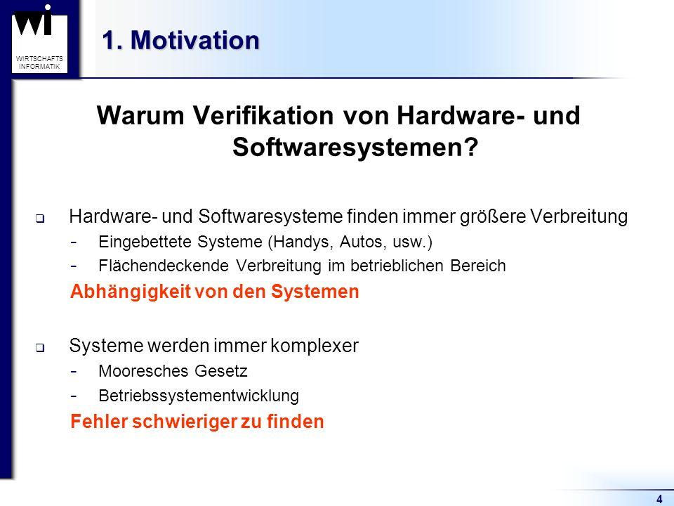 Warum Verifikation von Hardware- und Softwaresystemen