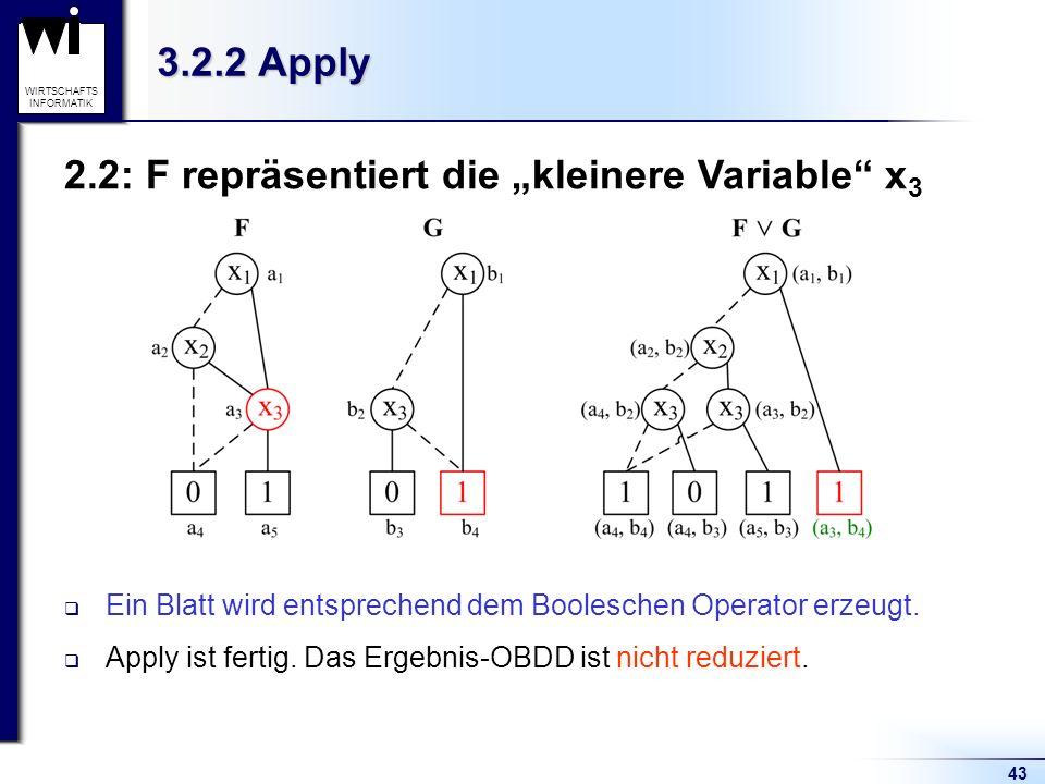 """2.2: F repräsentiert die """"kleinere Variable x3"""