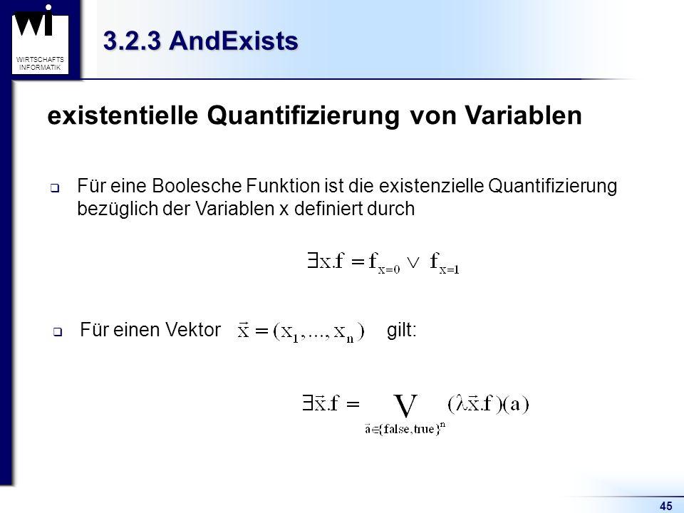 existentielle Quantifizierung von Variablen