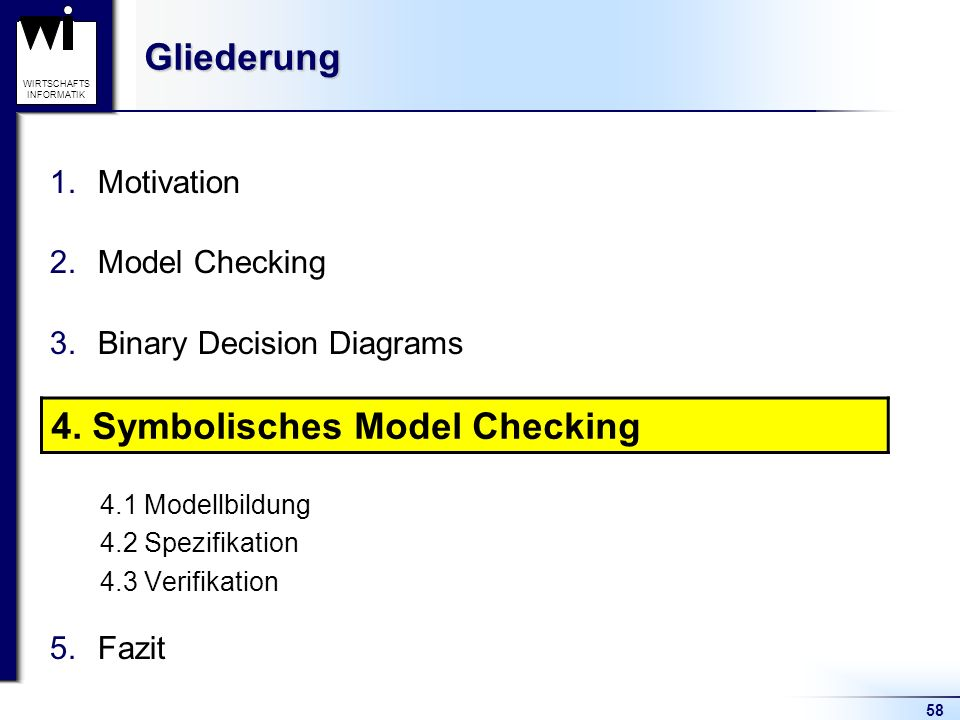 4. Symbolisches Model Checking