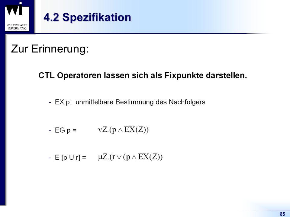 4.2 Spezifikation Zur Erinnerung: