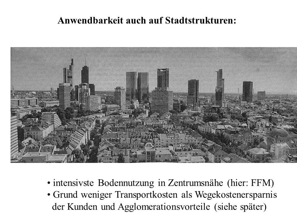 Anwendbarkeit auch auf Stadtstrukturen: