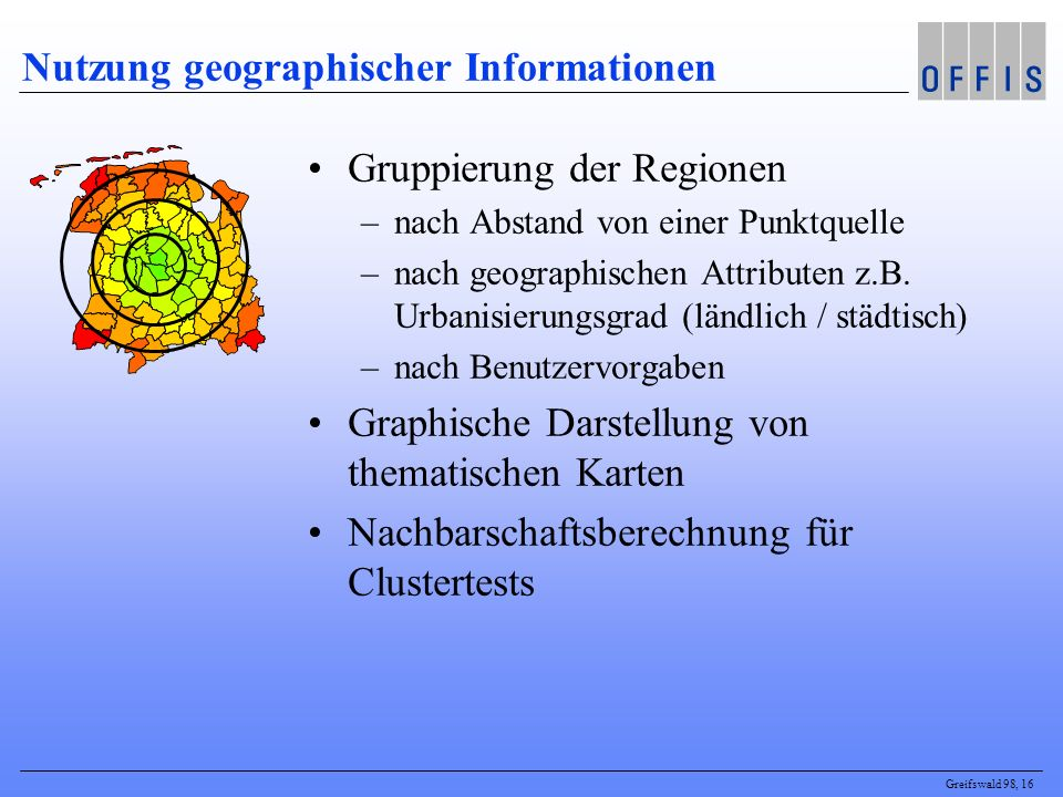 Nutzung geographischer Informationen