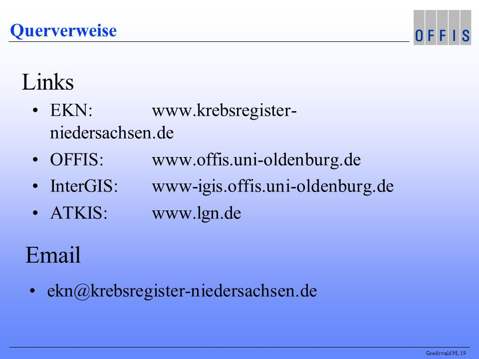 Links Email Querverweise EKN: www.krebsregister-niedersachsen.de