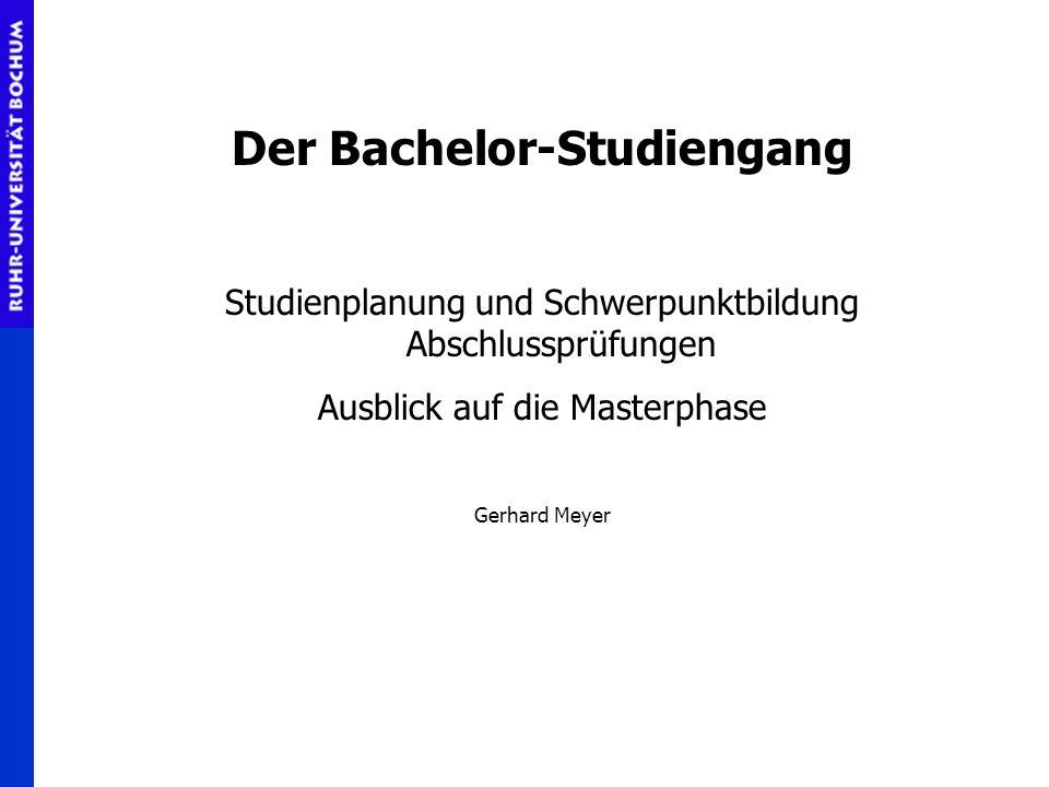 Der Bachelor-Studiengang