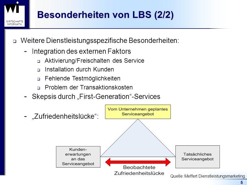 Besonderheiten von LBS (2/2)