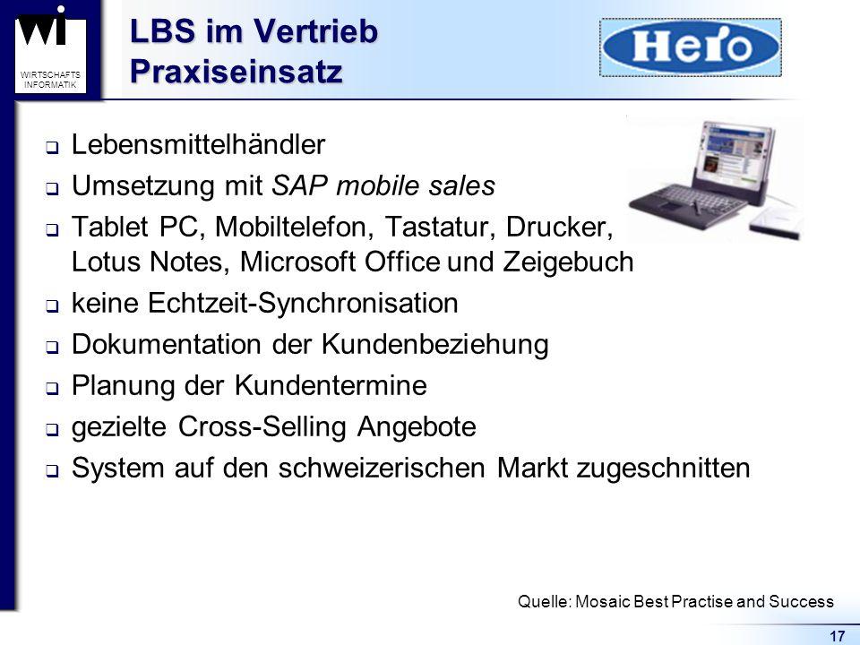 LBS im Vertrieb Praxiseinsatz