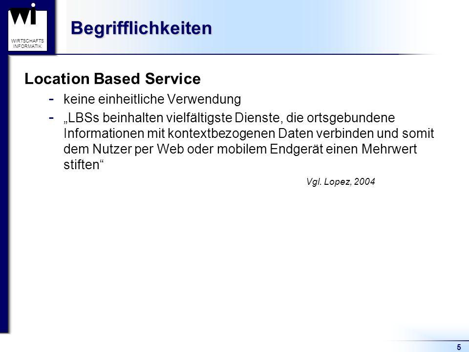 Begrifflichkeiten Location Based Service keine einheitliche Verwendung