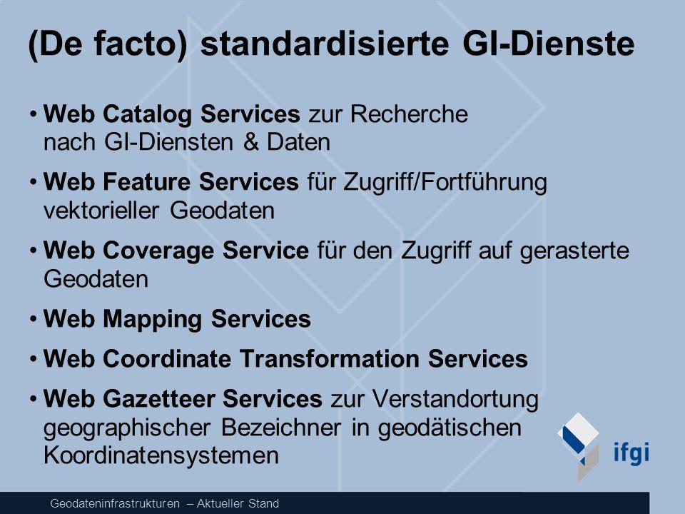 (De facto) standardisierte GI-Dienste