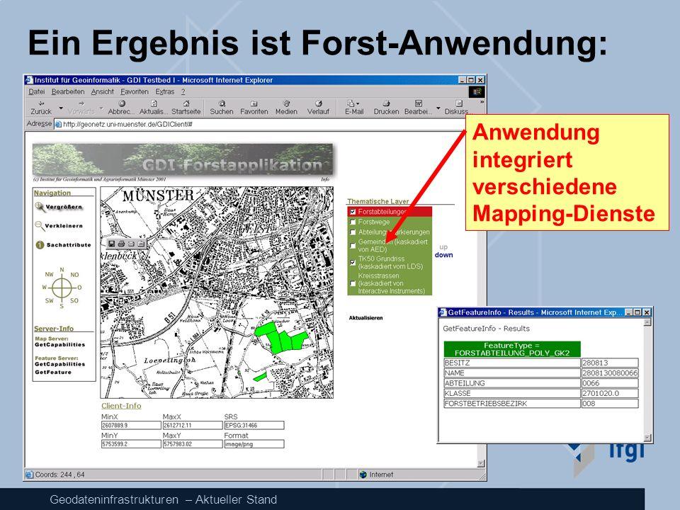 Ein Ergebnis ist Forst-Anwendung: