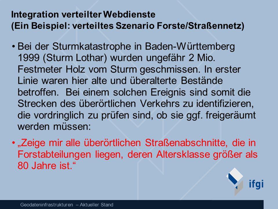 Integration verteilter Webdienste (Ein Beispiel: verteiltes Szenario Forste/Straßennetz)