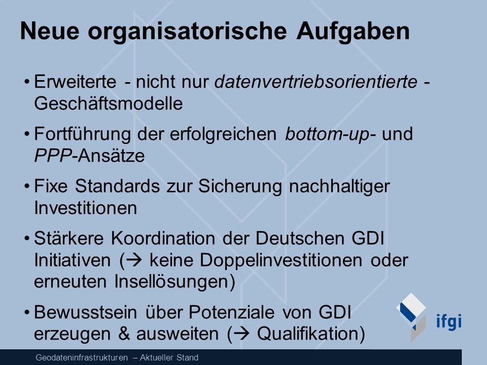 Neue organisatorische Aufgaben