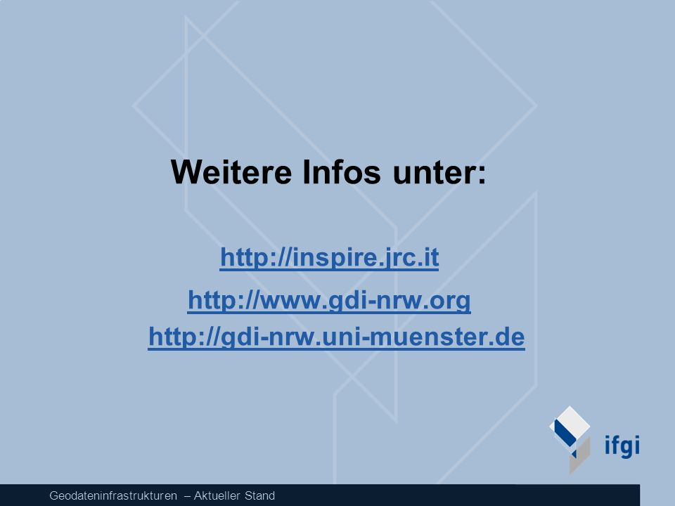 http://www.gdi-nrw.org http://gdi-nrw.uni-muenster.de