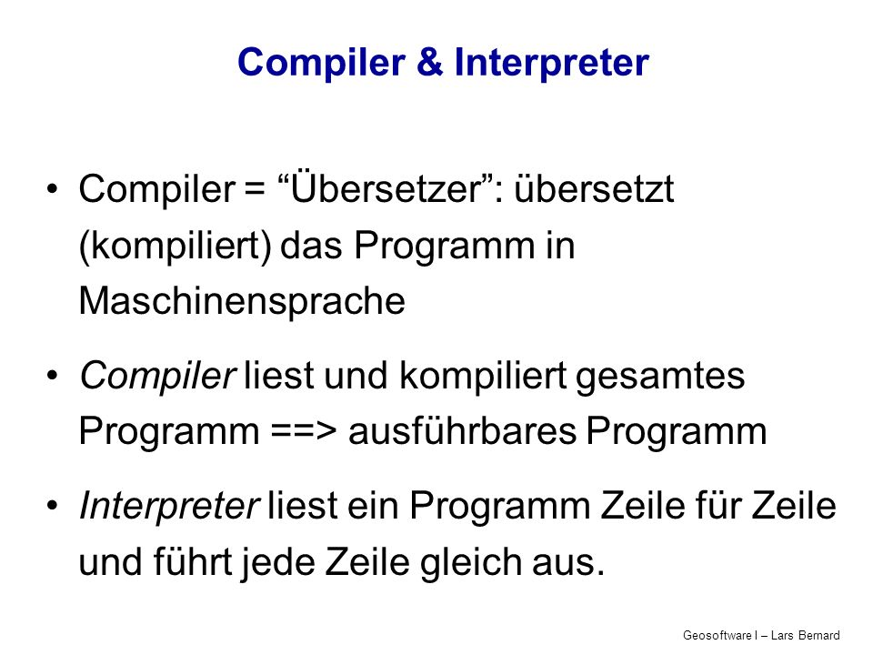 Compiler & Interpreter